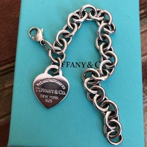 Authentic sterling silver heart tag charm